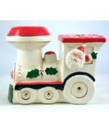 Vintage ceramic waving Santa elf Christmas loco... - $25.00