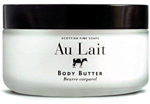 Au lait body butter   glass jar  7 oz