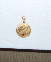 Monet Happy Birthday Gold Tone Charm Pendant wi... - $25.00