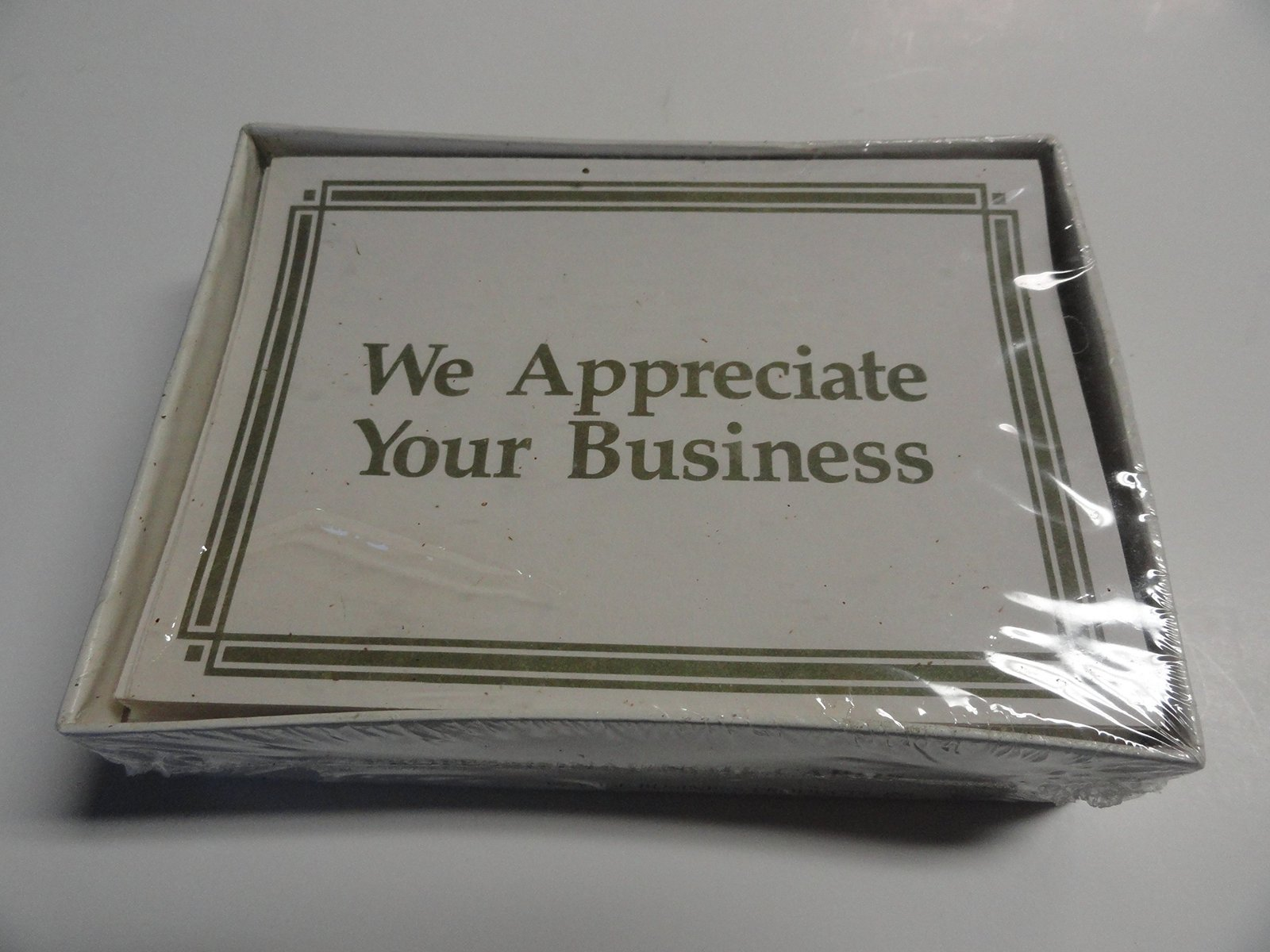 We appreciate your business professional note cards for We appreciate your business cards