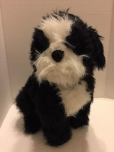 "Plush Shih Tsu Melissa & Doug Black & White Dog Really Cute 22"" Lifelike - $18.69"