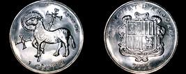 2002 Andorra 1 Centim World Coin - Lamb of God Depicted - $6.99