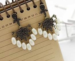 Palace Elegant Drop Pearl Ethnic Style Earrings - $4.99
