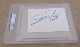 Sidney Poitier Autographed Signed Large 4x6 Index Card PSA Certified & S... - $149.99