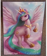 My Little Pony Princess Celestia Glossy Art Print 11 x 17 In Hard Plasti... - $24.99