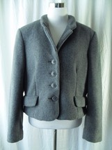 Express Tailleur Jacket Size Large Gray Cropped... - $44.99