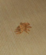 "Vintage Lisner Brooch Pin Textured Gold Tone, Signed - 2 1/4"" - $12.00"