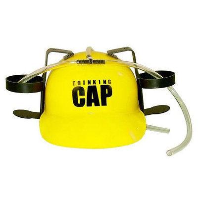 Thinking Cap Drinking Hard Hat Yellow