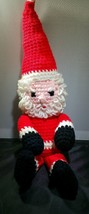 Vintage Handmade Crochet Santa Claus Doll Chris... - $19.99