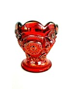 Imperial IG Glass RED Carnival FASHION Egg Or Tooth Pick Holder - $17.82