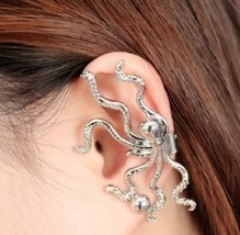 Unique Punk Octo Feelers Stud Earring(Color:Gold/Silver) - $4.99