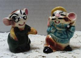 Vintage Artist MICE Salt & Pepper Shakers // Novelty // Figural S&P Set - $10.50