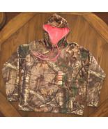 REALTREE Ladies Camo Hoodie With Pink Hood Lining and Pink Seam Thread N... - $22.20