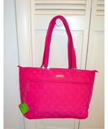 "NWT $118 VERA BRADLEY ""Work Tote""Bag Fuchsia PI... - $78.89"