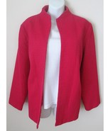 Dialogue Size 1X Jacket Bright Pink Waffle Text... - $25.00