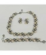 GG Pearls and Prasiolite Statement Fashion Necklaces Bracelet and Earri... - $118.79