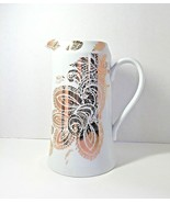 Porcelain Beverage Pitcher - Nicole Miller Home - White & Gold Metallic ... - $29.99