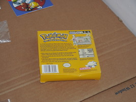 1999 Nintendo Game Boy Pokemon Pikachu Yellow Version Box, Manual, Bag ONLY - $39.59