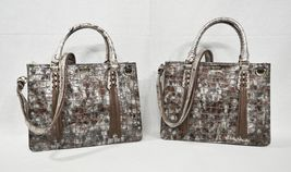 NWT Brahmin Small Camille Leather Satchel/Shoulder Bag in Brown Charente image 11
