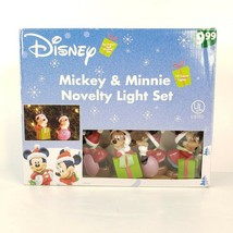 Disney Mickey & Minnie Mouse Novelty Light Set 10 Count Figural Christmas String - $19.99