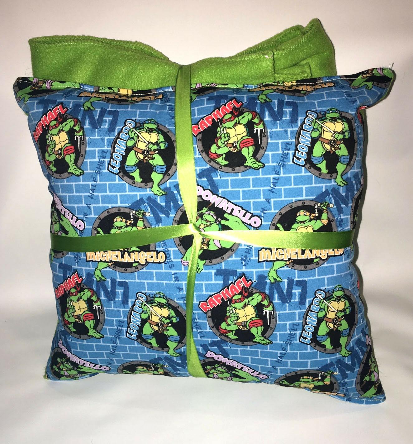 TMNT Pillow And Blanket Teenage Mutant Ninja Turtle Wall Pillow and Blanket Set
