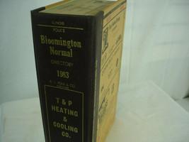 1983 Polk's City Business Directory Bloomington Normal Illinois Advertising - $27.71