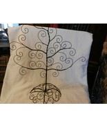Vintage Black Metal Wire Tree for Hanging Earrings, Jewelry Stands on Dr... - $74.25