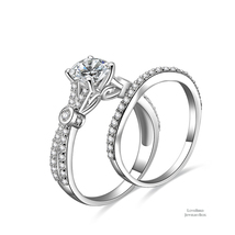 1 ct Round Cut Infinity 925 Sterling Silver Cubic Zirconia Engagement Ring Set - $52.56