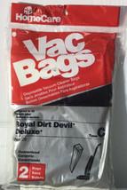 Royal Dirt Devil Deluxe Type C Vacuum Bags Home Care Vac 2 Pack No 28 (R-9) - $6.92