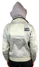 New Superdry Women's Premium Technical Zip Up Jacket Silver Removable Hood image 4