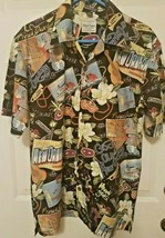 "David Carey Original Mens Size M  Hawaiian Print Shirt ""Good Old New Orl... - $24.25"