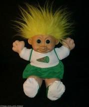 Vintage Russ Berrie Troll Bambini Kidz Cheerleader Giallo Peluche Giocattolo - $21.87