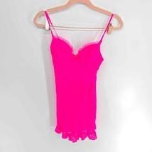 Victoria Secret The Lacie Neon Pink Lace Dress Lingerie Womens Small - $25.00