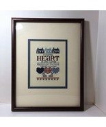 """A Country Heart is Kind within Finished and Framed Cross Stitch 19.25"""" x... - $24.18"""