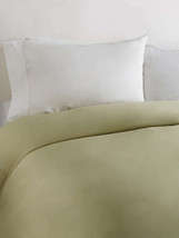 Sferra Elyse Green King Sheet Set Solid 4PC  Egyptian Cotton Sateen Leaf Italy - $445.00