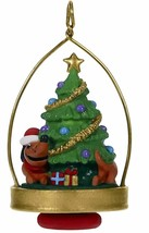Hallmark Chasing His Tail Dachsund Wrapped Around Tree  Miniature  2019 ... - $15.81