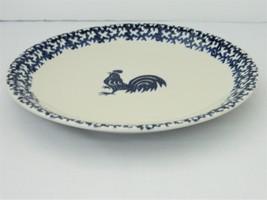 Folk Craft Tienshan  – Dinner Plate – Sponge Blue Rooster  - $9.50