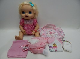 Hasbro My Baby Alive Lot 2010 Interactive Talking Blonde Curly Hair Pees... - $59.39