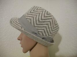 Women's Scala Pronto Patterned Fedora Hat Grey  NEW - $18.80