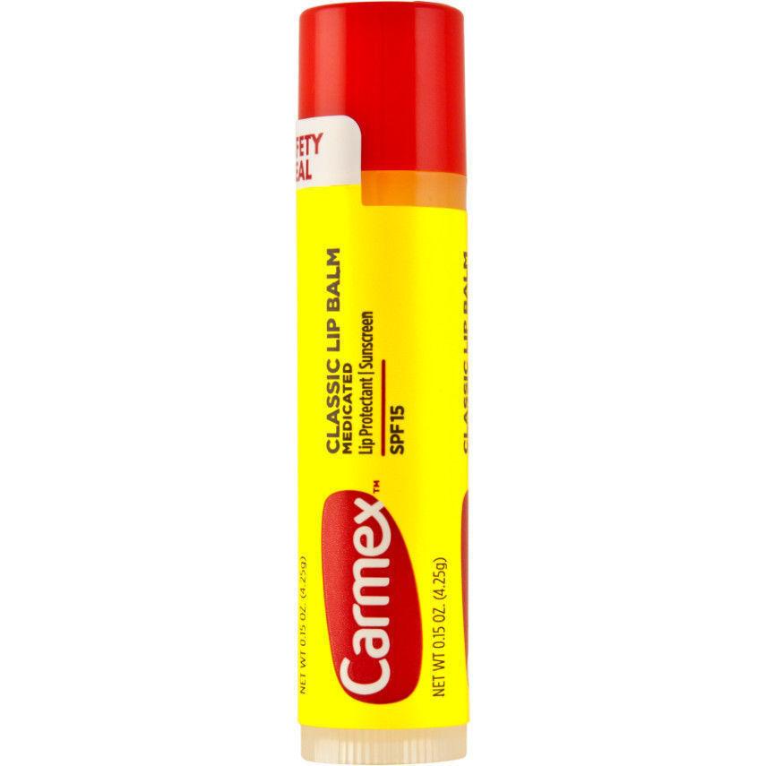 3 Pack Carmex .15 oz. Classic Lip Balm SPF 15 image 3