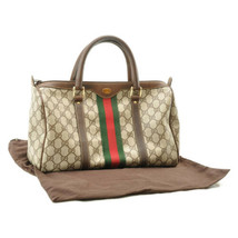 GUCCI Sherry Line GG Canvas Hand Bag Brown Auth 8724 - $450.00