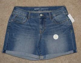 New Old Navy Jean Shorts Curvy Fit Cuffed Cotton Stretch Denim Sz 6 - $17.75