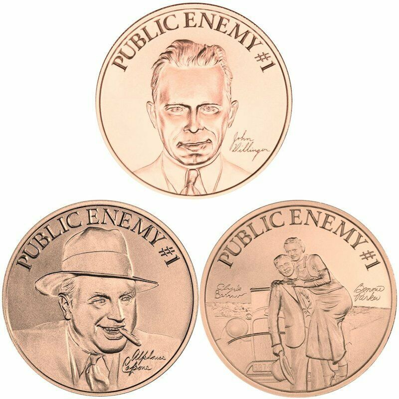 s Second Amendment Liberty Gun Dollars 1 oz .999 Pure Copper BU Round