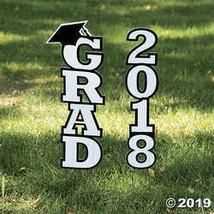 White 2018 Grad Yard Sign - $9.38