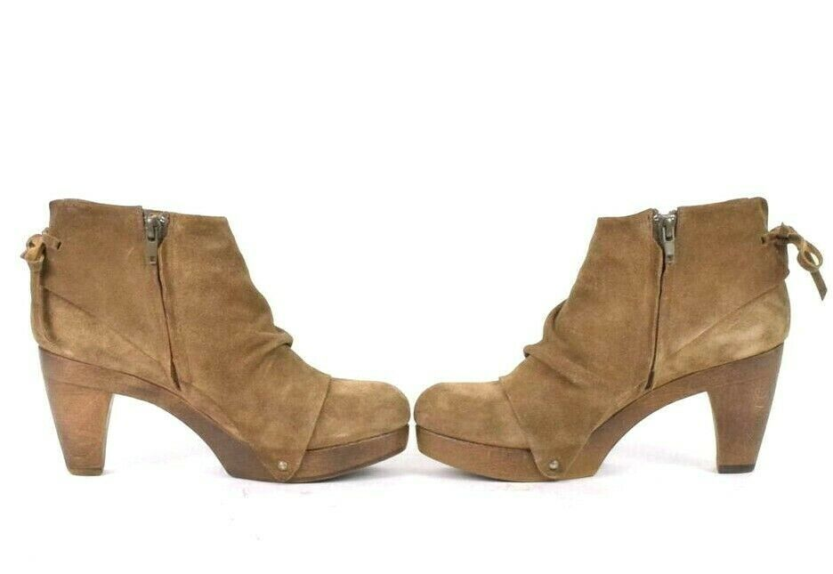 Coclico Brown Suede Leather Ankle Boots Booties Zip Womens EU 37 / US 6.5 - 7 image 5