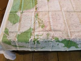 """Rare Vintage 36""""x26"""" Two Sided Western Pacific Cloth Nautical Map Asia China image 8"""
