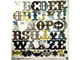 BasicGrey Periphery Bon Bon Monograms Sticker Sheet 12x12 inches #PIP-295