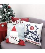 3pk Pillow Set Christmas Santa Clause Snowflake Antler Merry Christmas T... - $48.83