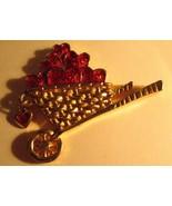 Avon Garden Of Love Lapel Pin - Vintage 1992 Apple Cart Gold Red Heart B... - $19.79