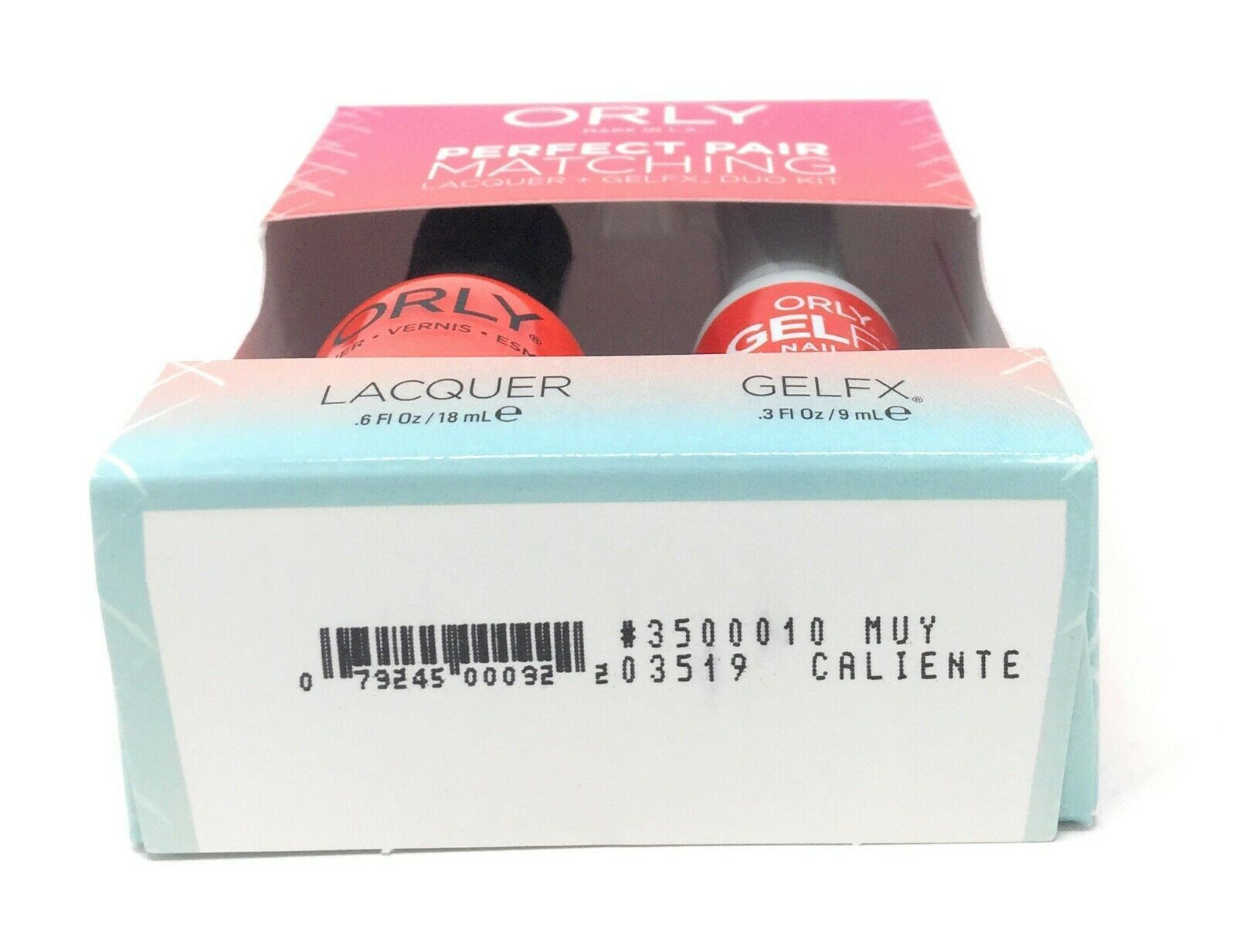 3500010 - Orly Gel FX .3oz + Nail Lacquer .6oz Combo - Muy Caliente image 2